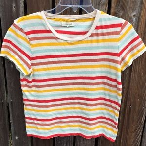 Madewell M Tee Striped Soft Baby Shirt Top